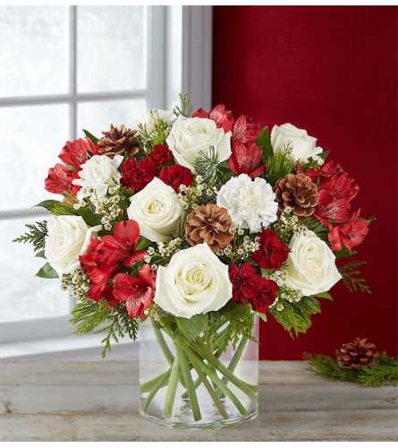 Spirit of the Season™ Arrangement in Clear Glass