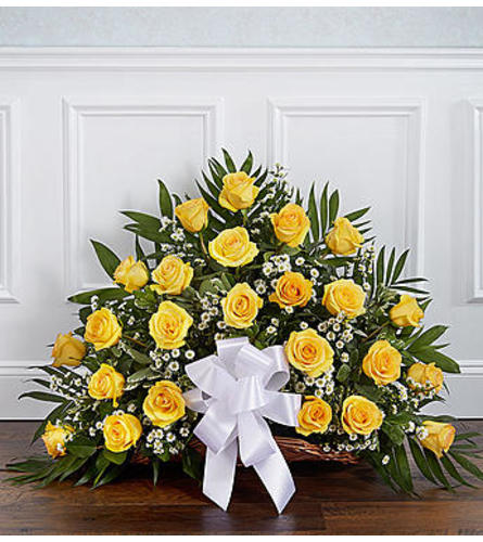 Thoughts and Prayers™ Yellow Fireside Basket