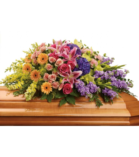 Magical summer  garden casket spray