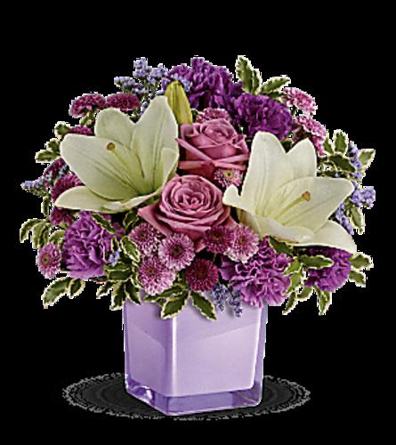 Teleflora's pleasing purple bouquet