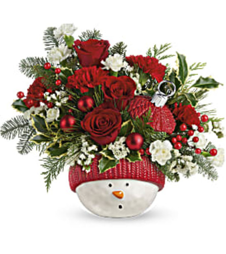 Teleflora's Snowman Ornament Bouquet 2020