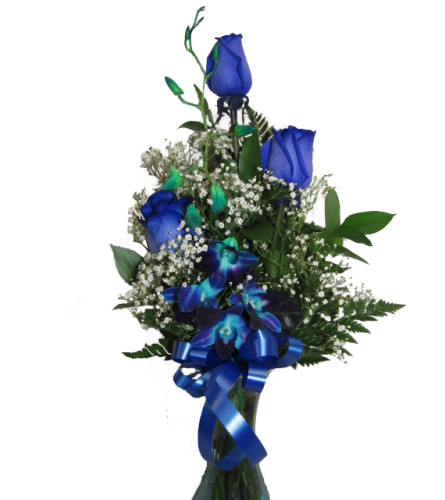 'Blue Without You' Rose Arrangement