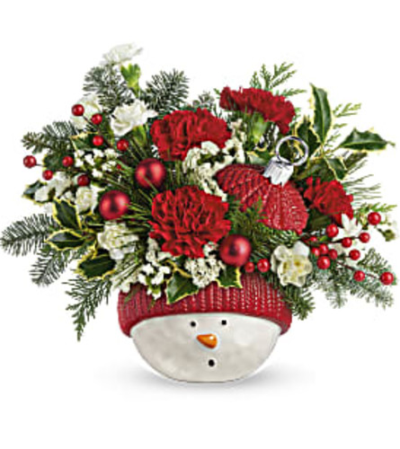 Teleflora's Snowman Ornament Bouquet 2020