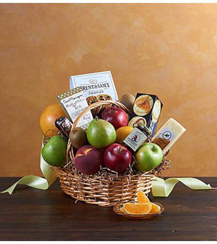 Deluxe Fruit & Gourmet Basket for Sympathy