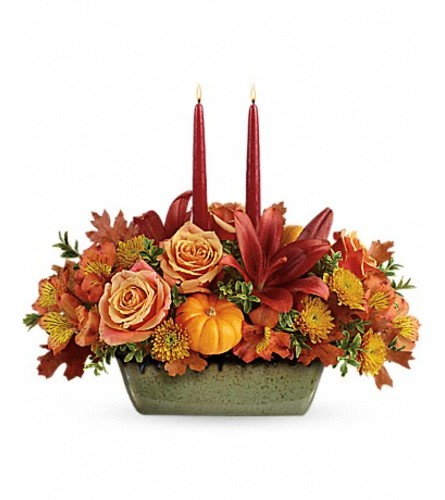 Teleflora's Country Oven Centerpiece