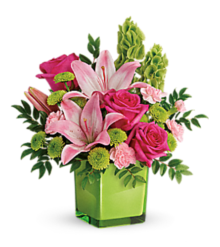 Teleflora's in love in lime bouquet