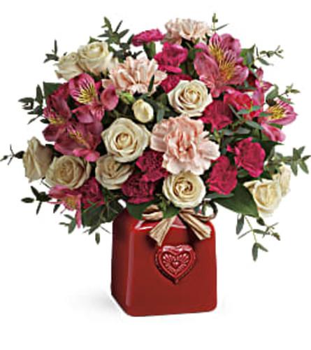 Teleflora's Vintage Heart Bouquet
