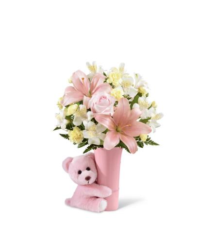 The FTD® Baby Girl Big Hug® Bouquet