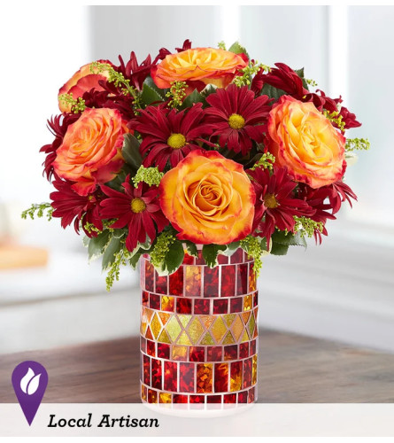 Amber Waves™ with Roses