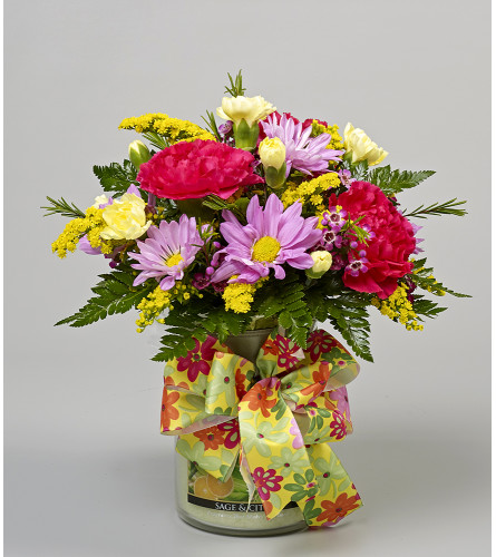Large Cheerful Giver Candle Arrangement