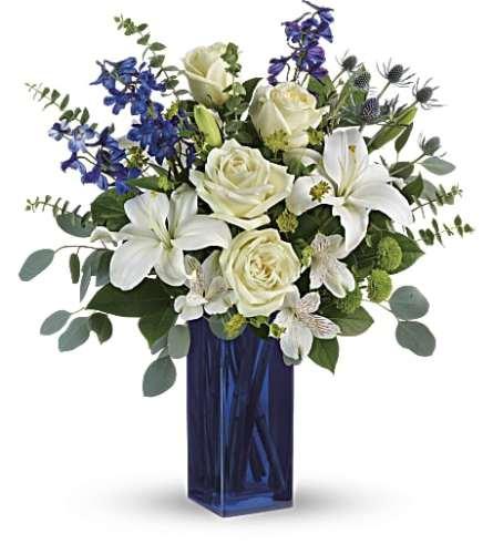 Teleflora's Calming Cobalt Bouquet