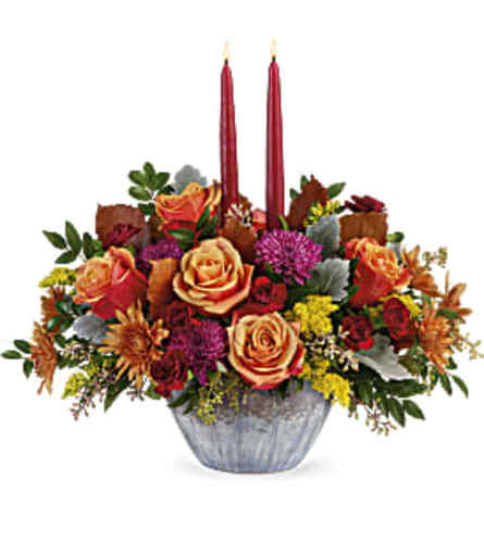 Teleflora's Harvest Jewels Centerpiece
