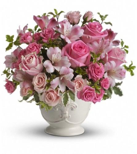 Teleflora's Pink Potpourri Bouquet with Roses