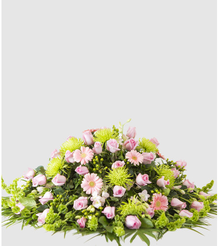 Pink and Green Casket Spray