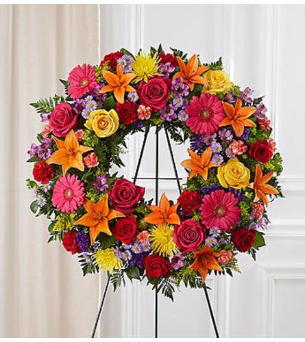 Serene Blessings Bright Standing Wreath