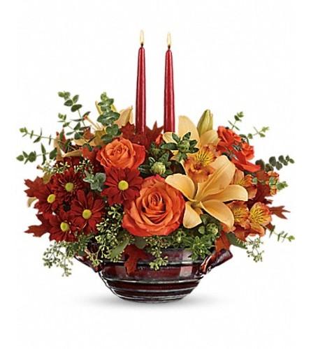 Teleflora's Autumn Gathering Centerpiece