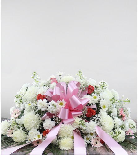 Elegant Pink Memorial Spray