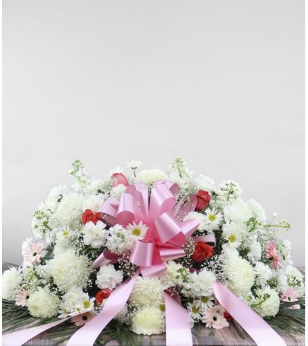 Elegant Pink Memorial Spray