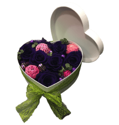 Preserved Rose Heart Box