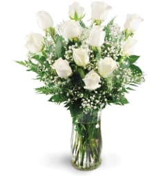 Indio ca florist free flower delivery in indio ca the flower dozen white roses mightylinksfo
