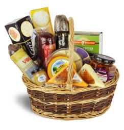 Premium Gourmet Meat Cheese Basket