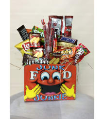 Custom designed flowers amp gifts staten island ny florist junk food box negle