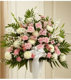 Pink & White Basket