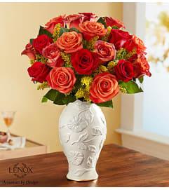 Sunset Autum Bouquet Lenox Vase