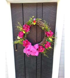 GRAPEVINE WREATH SPRING (SILK)