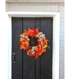 GRAPEVINE WREATH FALL (SILK)