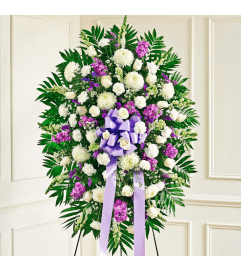 LAVENDER AND WHITE STANDING SPRAY