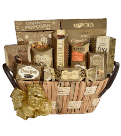 Golden Elegance Gift Basket