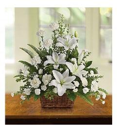 Peaceful White Basket