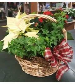 Christmas European Garden Basket