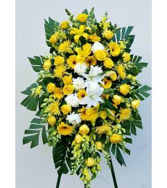 Yellow farewell Floral Spray