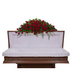 Elegant Roses Full Casket Spray