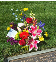 Spring Bliss Gravesite Arrangement