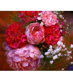 Pink Blush Bridesmaid Bouquet