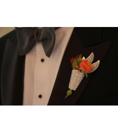 Deluxe Sparkle Boutonniere 101