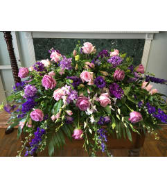 Sympathy Blooms Casket Spray
