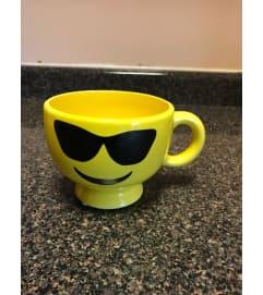 Happy Face Mug with designer choice flower arrangement