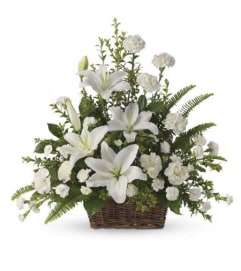 White Lily Expressions Basket