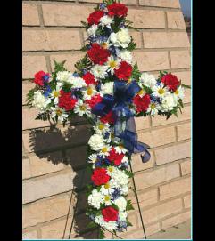 Patriotic Standing Cross
