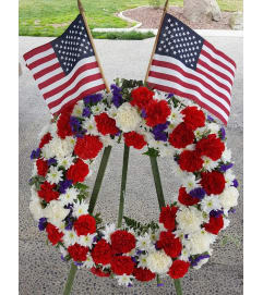 Banner Yet Wave Standing Wreath