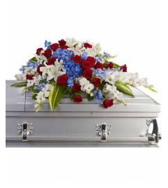 Patriotic Sentiments Casket Spray