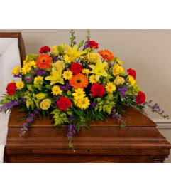 Walk in The Garden Casket Spray