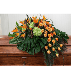 Birds of Paradise Casket Spray