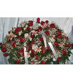 Red Roses with Oriental Orchids  GF-CC4
