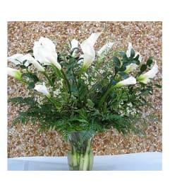 White Calla Lilies  GF-VCF001
