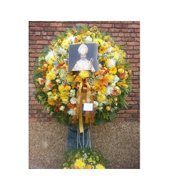 Wreath with Religious Photo